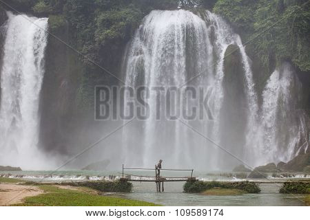 A part of Ban Gioc waterfall in Vietnam