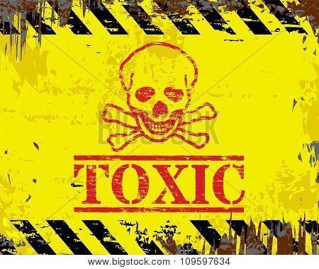 Toxic Enamel Sign