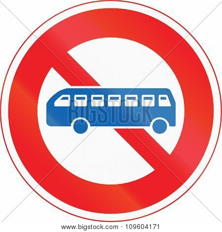 Japanese Road Sign - No Thoroughfare For Buses