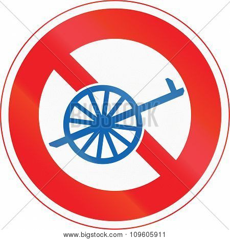 Japanese Road Sign - No Thoroughfare For Handcarts