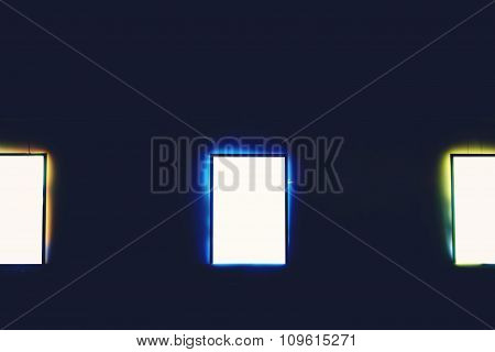 Advertising mock up banners outdoors