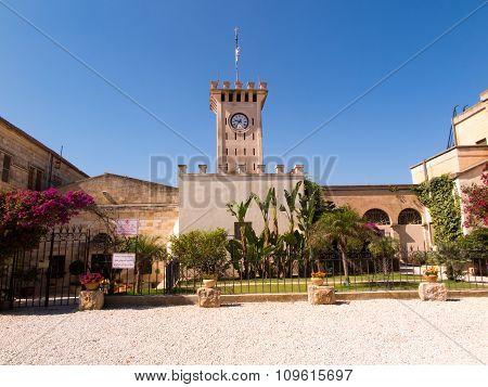 The Monastic Buildings Near The Church On Mount Tabor