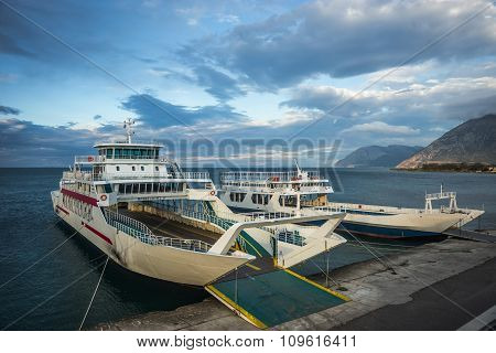 Ferries, Antirio, Greece