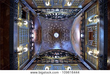 Inside The Palau Guell Palace Designed By Antonio Gaudi