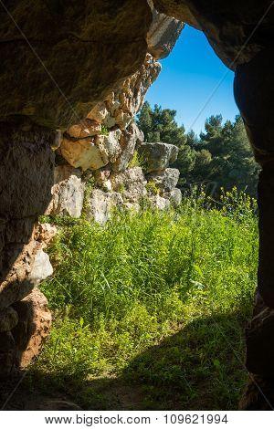 East Gallery Of Tiryns Acropolis