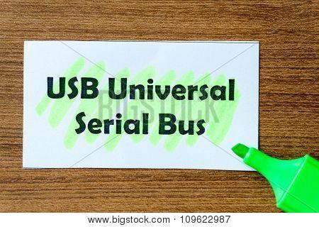 Universal Serial Bus Word Hightlighted