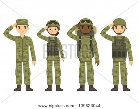 Cartoon Army People