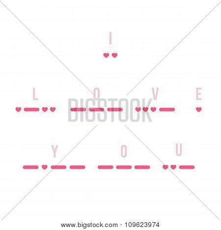 Morse Code I Love You