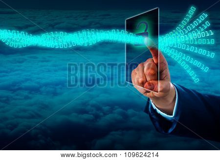 Unlocking A Virtual Data Stream Via Touch Screen