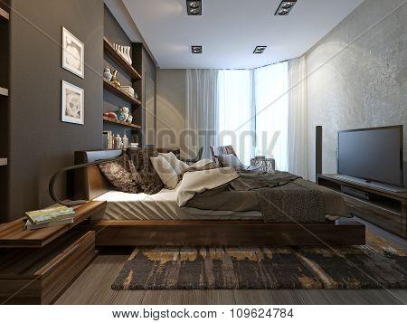Bedroom Interior In Modern Style