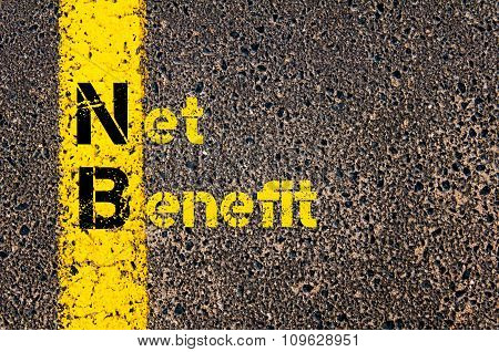 Business Acronym Nb As Net Benefit