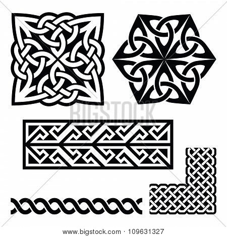Celtic Irish and Scottish patterns - knots, braids, key patterns