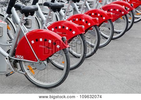 Bicycle sharing system in Lyon, France