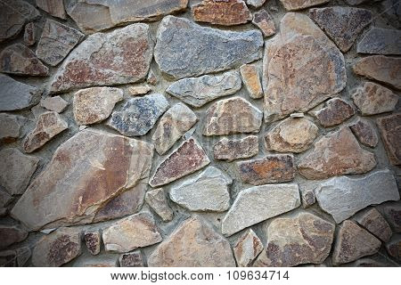 Stone Wall With Vignette