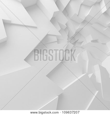 Geometric color abstract polygons background, as crack wall