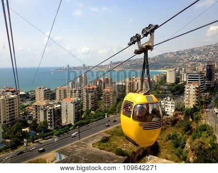 Cable car at Jounieh, Lebanon