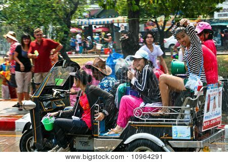 CHIANG MAI, THAILAND - APRIL 13: Celebration of Thai New Year (Songkran water festival) in 2010.