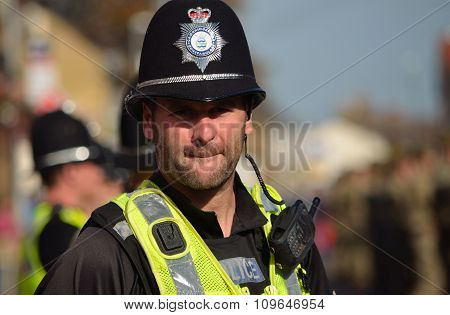 British Police on duty