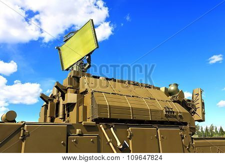 MOSCOW REGION  -   JUNE 17:Starting platform with four guide anti-aircraft medium-range missiles   -  on June 17, 2015 in Moscow region