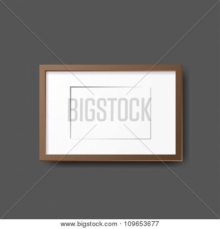 Mockup modern tripod template. Layout template. Realistic vector mockup illustration.   Office table, work station.
