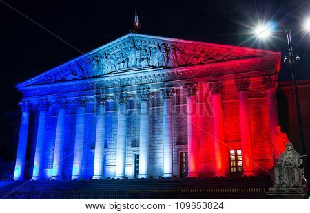 The National Assembly(bourbon Palace), Paris, France.