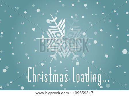 Christmas loader from snowflake.