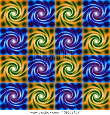 Seamless psychedelic spiral fractal pattern