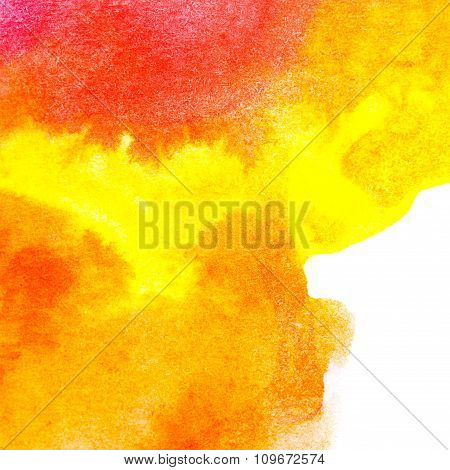 Abstract Art Oil Color. Orange, Yellow