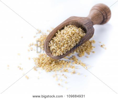 Raw Bulgur (isolated On White)