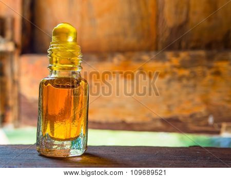 Camphor Oil Is Placed On The Window Sill.
