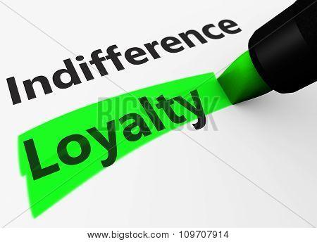 Customer Loyalty Marketing Concept