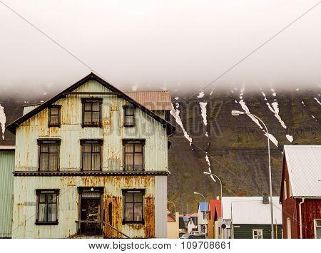 Rusty House Isafjordur Iceland