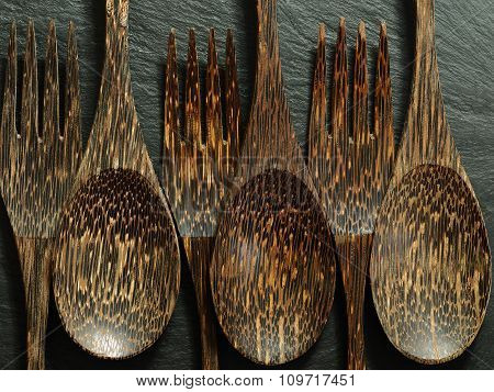 Forks and Spoons made from wood