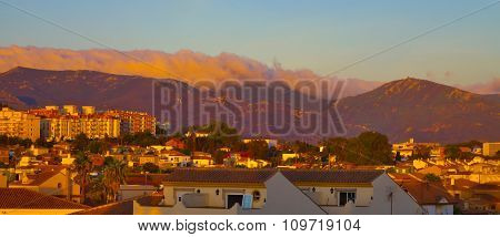 Algeciras In Sunset.
