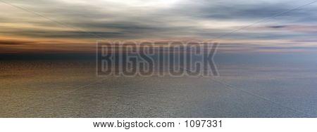 Sunset Ocean Panorama