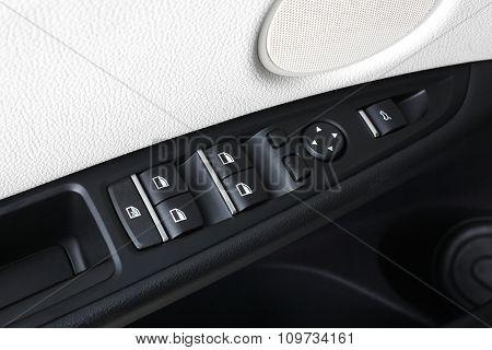 Car Interior. Doors. Control Button