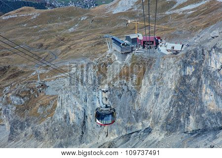 Cable Car On Mt. Titlis