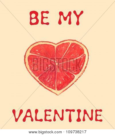 Greeting Card To Valentine's Day