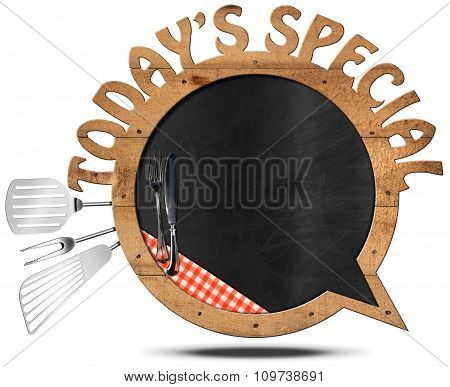Today's Special - Blackboard Speech Bubble Shaped