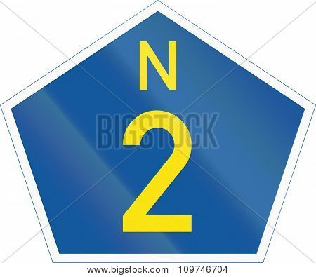 South Africa National Route sign - N2. poster