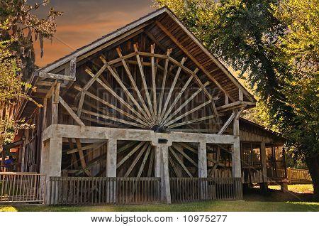 Waterwheel at Sunset