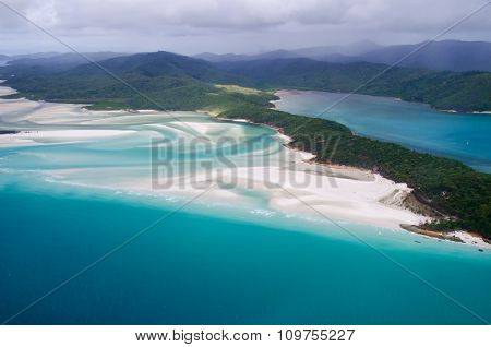 Whitehaven Beach Whitsundays, Queensland - Australia - Aerial View