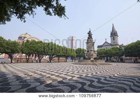 Beautiful Plaza In Manaus, Amazonas
