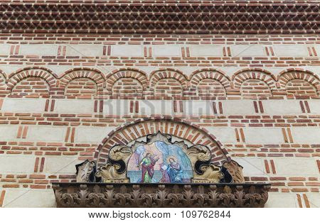 Architectural detail of st. Anton Church in Bucharest, Romania.