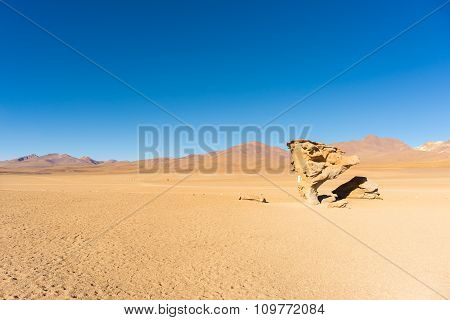 Sandy Desert Stretch On The Bolivian Andes