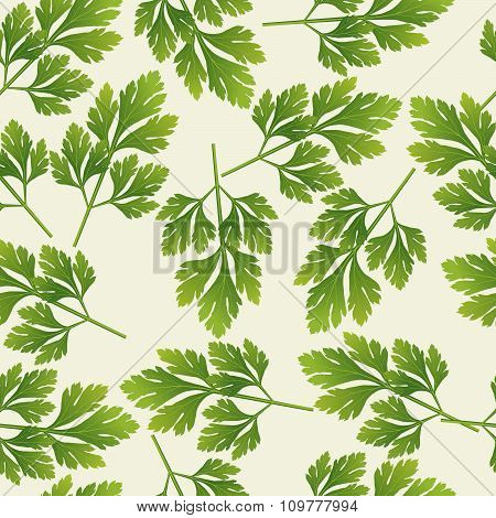 Vector Seamless Parsley Pattern