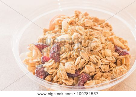 Homemade Granola Breakfast With Dried Fruit
