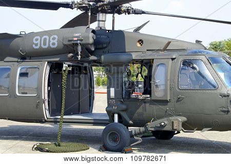 H-60 Black Hawk Helicopter Closeup