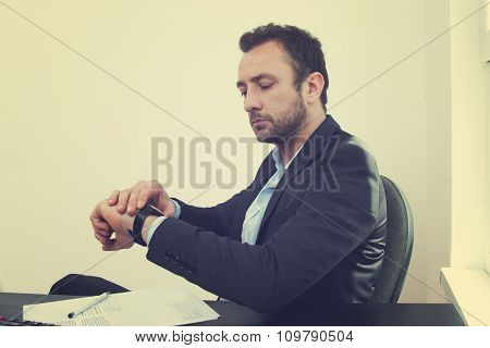 Young businessman in office.