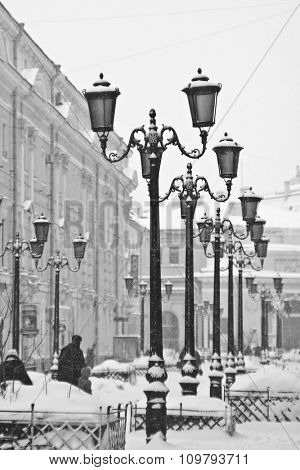 Street St. Petersburg in winter.